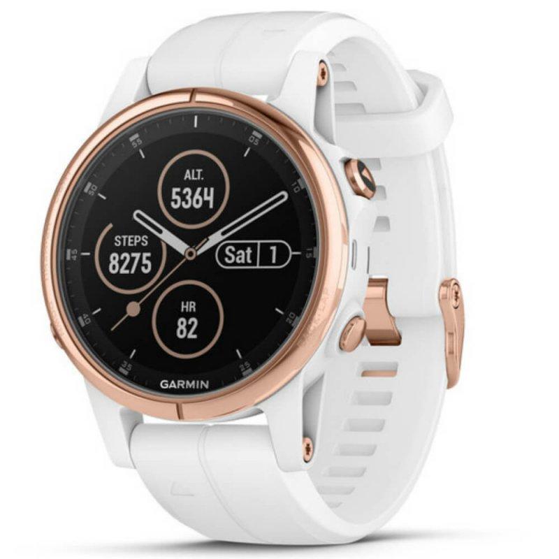 e2dd25f9c99 Relógio Multiesportivo Garmin Fenix 5S Plus Safira Branco e Dourado com Monitor  Cardíaco no Pulso - Compre Online