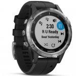 Relógio Multiesportivo Garmin Fenix 5S Plus Preto e Prata com Monitor Cardíaco no Pulso