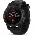 Relógio Multiesportivo Garmin Fenix 5S Plus Safira Preto com Monitor Cardíaco no Pulso