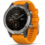 Relógio Multiesportivo Garmin Fenix 5 Plus Safira Laranja com Monitor Cardíaco no Pulso