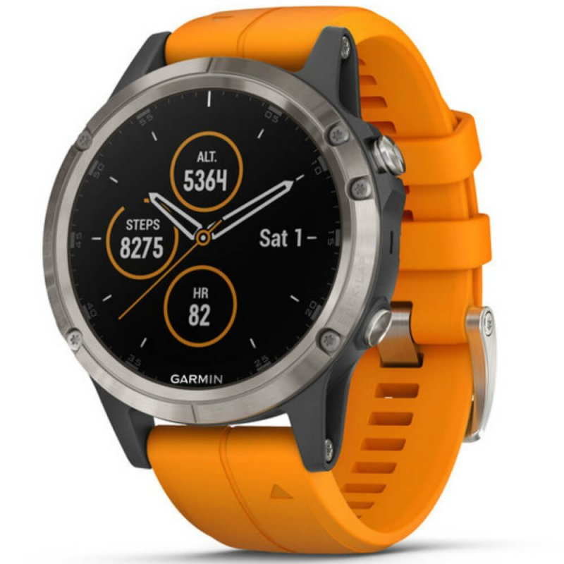 Relógio Multiesportivo Garmin Fenix 5 Plus Safira Laranja com Monitor  Cardíaco no Pulso - Compre Online 18adcae6a4