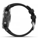 Relógio Multiesportivo Garmin Fenix 5 Plus Preto e Prata com Monitor Cardíaco no Pulso