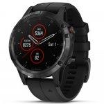 Relógio Multiesportivo Garmin Fenix 5 Plus Safira Preto com Monitor Cardíaco no Pulso