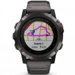 Relógio Multiesportivo Garmin Fenix 5X Plus Safira Preto com Monitor Cardíaco no Pulso