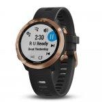 Relógio Esportivo Garmin Forerunner 645 Music Rose Dourado 010-01863-33 com GPS e Monitor Cardíaco