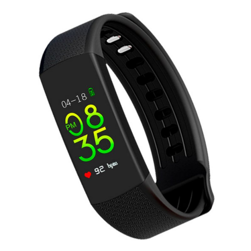 Smartwatch com Monitoramento Cardíaco Qtouch Com Bluetooth e Monitor Cardíaco Preto e Laranja