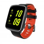 Smartwatch com Monitoramento Cardíaco Qtouch Touch Screen Bluetooth Preto e Laranja