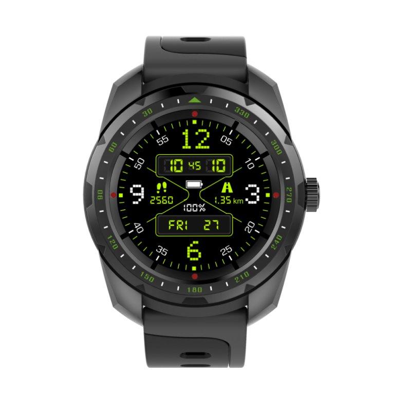 Smartwatch com Monitoramento Cardíaco Qtouch Câmera Remota Bluetooth Preto Fitness Preto