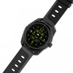 Smartwatch com Monitoramento Cardíaco Qtouch Câmera Remota Bluetooth Preto