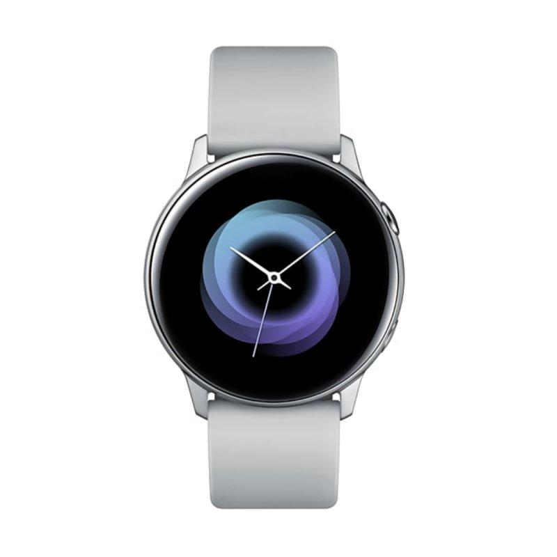 Smartwatch Samsung Galaxy Watch Active Prata com Monitoramento Cardíaco Bluetooth