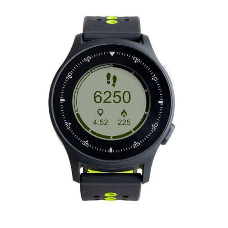 Relógio Atrio com Monitor Cardíaco Sportwatch Chronus GPS à Prova D Água Preto