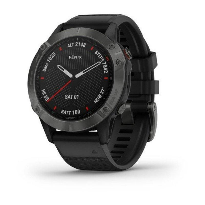 Relógio Multiesportivo Garmin Fenix 6 Pro Cinza com Monitoramento Cardíaco no Pulso
