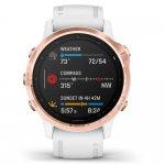 Relógio Multiesportivo Garmin Fenix 6S Pro Dourado Rose com Monitoramento Cardíaco no Pulso