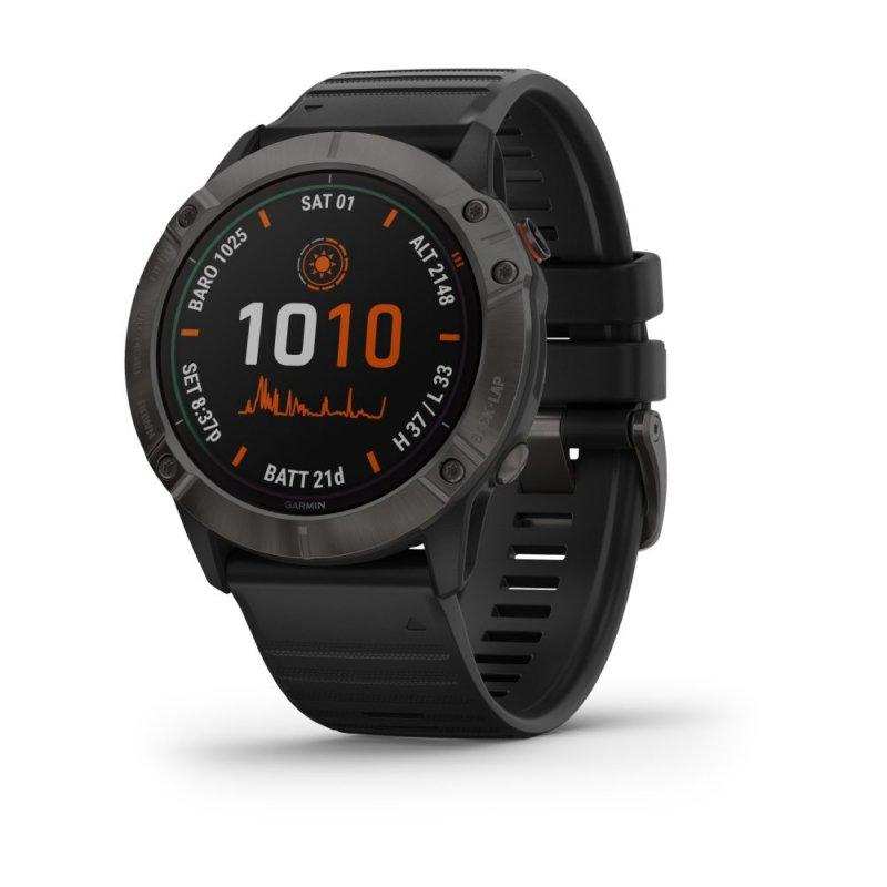 Relógio Multiesportivo Garmin Fenix 6X Pro Solar Cinza com Monitoramento Cardíaco no Pulso