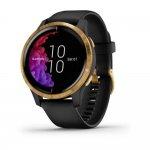Relógio Multiesportivo Garmin Venu Preto e Dourado Com Monitor Cardíaco e GPS
