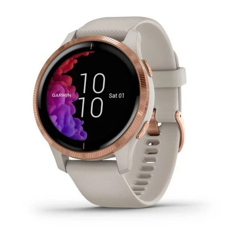 REEMBALADO Relógio Multiesportivo Garmin Venu Rosê Dourado Com Monitor Cardíaco e GPS