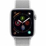 Apple Watch Series 4 44mm caixa prateada de alumínio com pulseira Loop Cinza