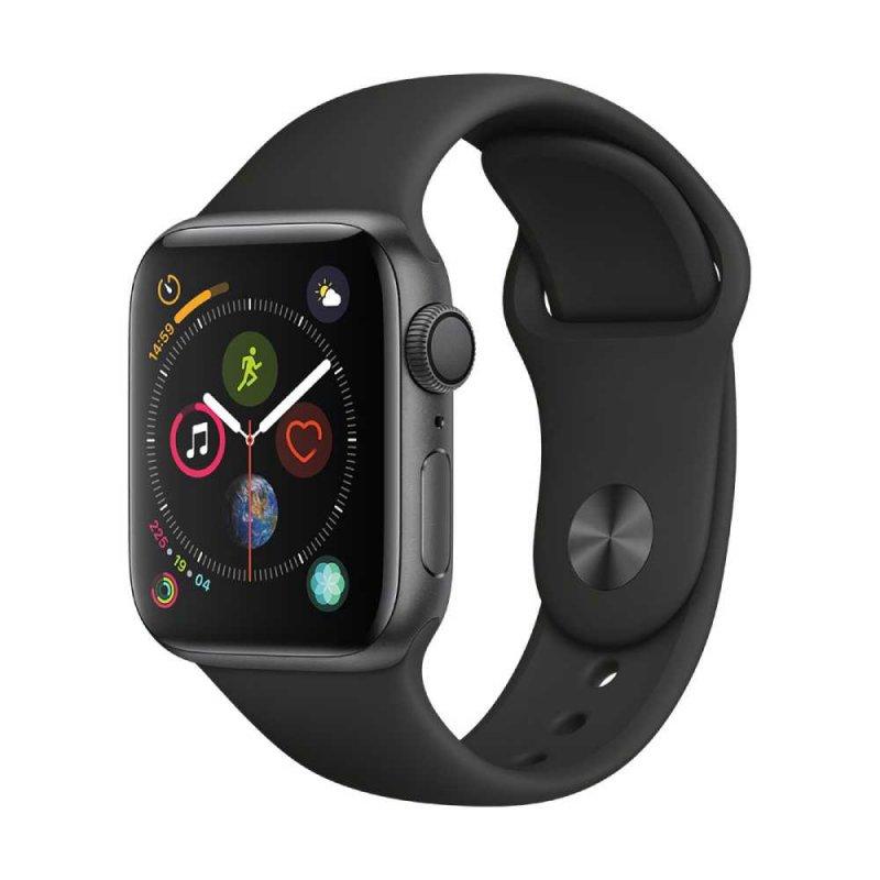 Apple Watch Series 4 Cinza Espacial GPS em Alumínio e Pulseira Esportiva Preta 40 mm