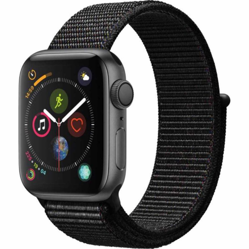 Apple Watch Series 4 GPS 40 mm Alumínio Cinza Espacial Pulseira Esportiva Loop Preto