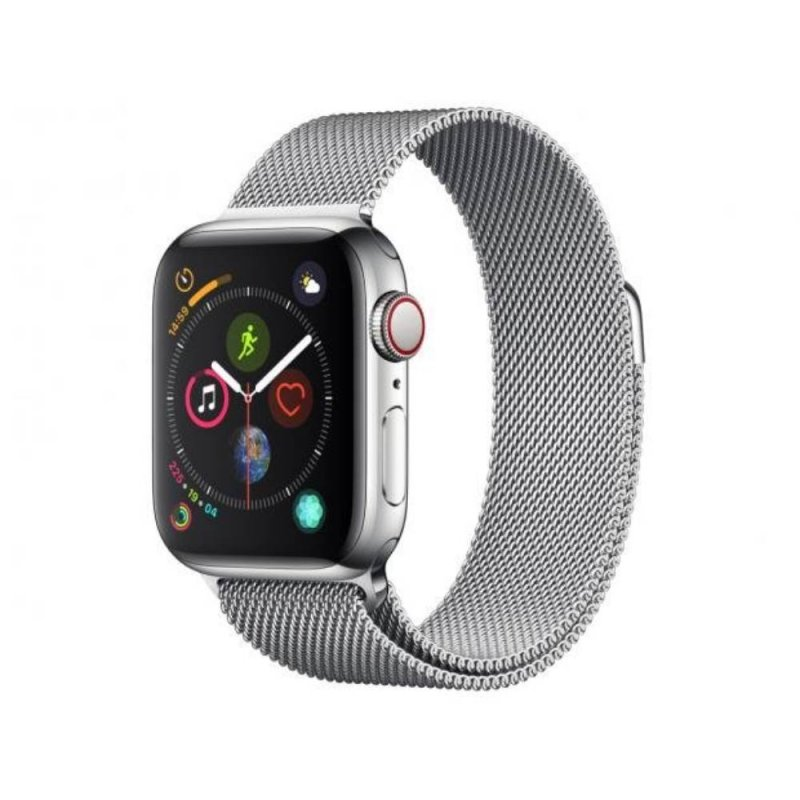 Apple Watch Series 4 GPS 40mm Alumínio Prata Pulseira Esportiva Loop Cinza
