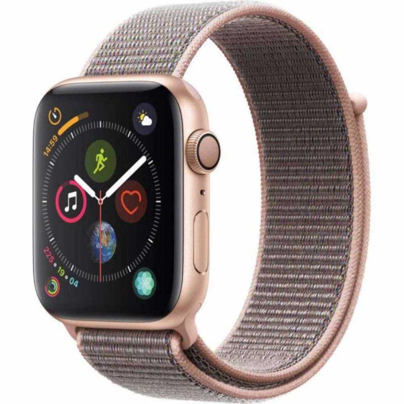 Apple Watch Series 4 GPS 44 mm Alumínio Dourado Pulseira Esportiva Loop Rosa