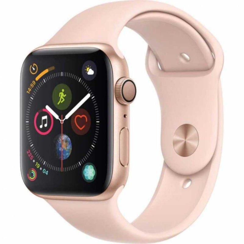 Apple Watch Series 4 GPS 44 mm Alumínio Dourado Pulseira Esportiva Rosa