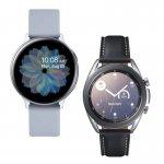 Smartwatch Samsung Galaxy Watch 3 41mm LTE e Relógio Samsung Galaxy Watch Active2 BT 44M Prata