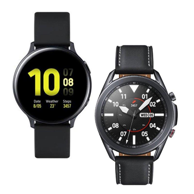 Smartwatch Samsung Galaxy Watch 3 45mm LTE e Relógio Samsung Galaxy Watch Active2 BT 44mm Preto