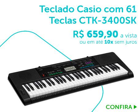 Teclado Musical Casio CTK-3400SK_BL1