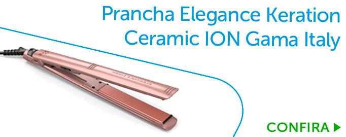 Prancha Elegance Keration Ceramic ION Gama Italy